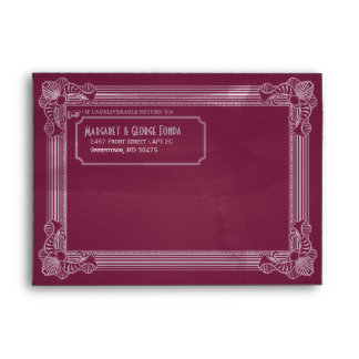 Vintage Distressed Plum Customizable A7 Envelopes