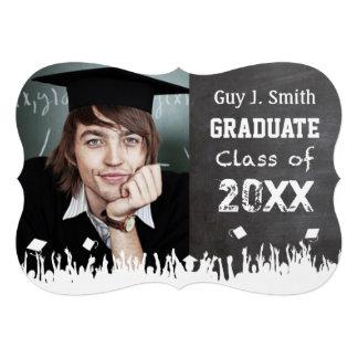 Vintage Distressed Poster Style Grunge Graduation Custom Invite