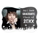 Vintage Distressed Poster Style Grunge Graduation 5x7 Paper Invitation Card