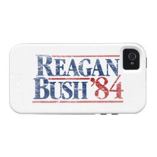 Vintage Distressed Reagan Bush '84 iPhone 4/4S Cases
