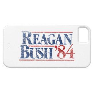 Vintage Distressed Reagan Bush '84 iPhone 5 Cases