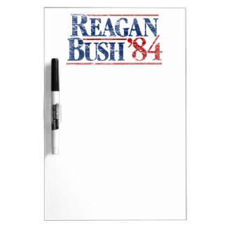 Vintage Distressed Reagan Bush '84 Dry-Erase Whiteboard