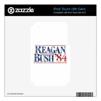 Vintage Distressed Reagan Bush '84 iPod Touch 4G Decals