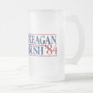 Vintage Distressed Reagan Bush '84 Mugs