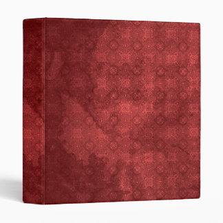 Vintage Distressed Red Pattern 3 Ring Binder