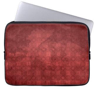 Vintage Distressed Red Pattern Computer Sleeve