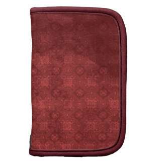 Vintage Distressed Red Pattern Organizer