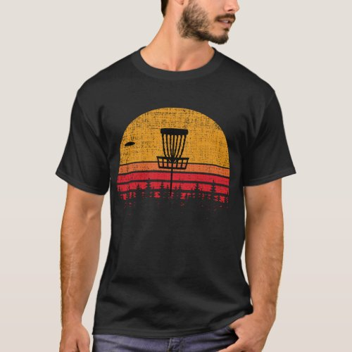 Vintage Distressed Retro Frisbee Disc Golf T_Shirt