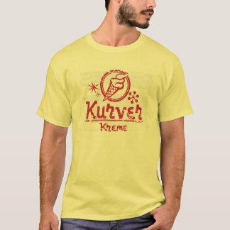 Vintage Distressed Retro Kurver Kreme T-Shirt