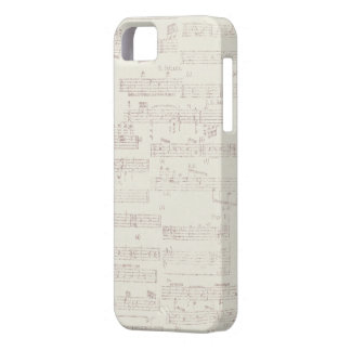 Vintage Distressed Sheet Music iPhone 5s Case