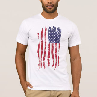 Vintage Distressed Tattered U.S. Flag Shirt