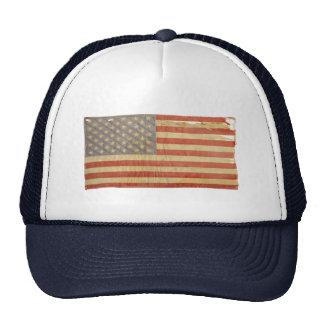 Vintage Distressed Tattered U.S. Flag Trucker Hat