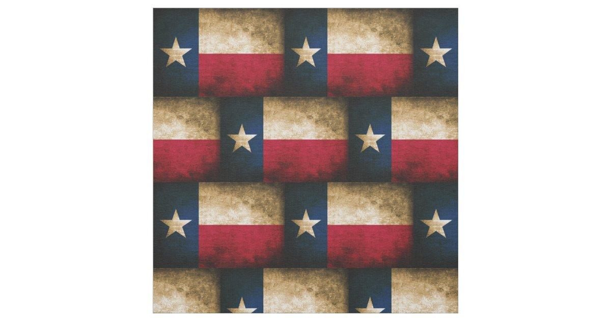 Vintage Distressed Texas Flag Fabric Zazzle Com