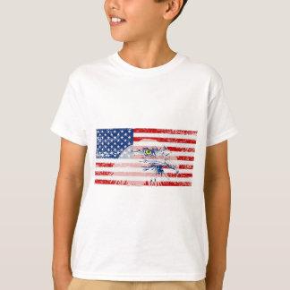 Vintage Distressed U.S. Flag & Eagle T-Shirt