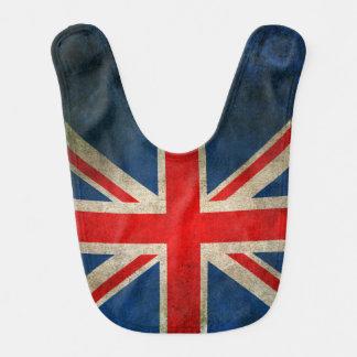 Vintage Distressed Union Jack Flag of The UK Bib