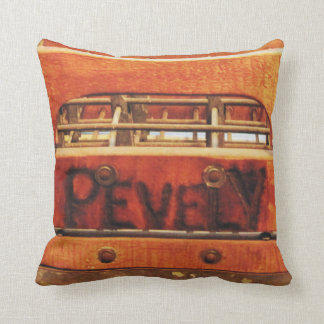 Vintage Distressed Wood & Metal Pevely Milk Crate Throw Pillow