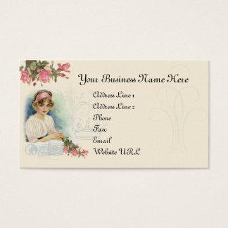 Vintage Diva & Roses Business Card