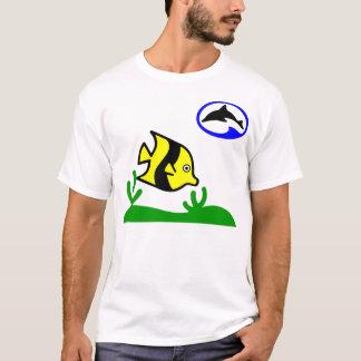 Vintage Diver Dolphin Logo & Fish T-Shirt
