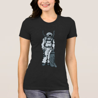 Vintage Diver with Diving Helmet Illustration T-Shirt