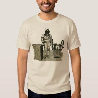 Vintage Diver with Helmet and Pump Illustration T Shirt