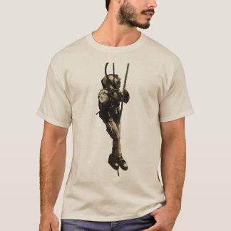 Vintage Diver with Mark V Diving Helmet on a Rope T-Shirt