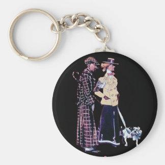 vintage divertido del dogo del perro del hombre de llavero redondo tipo pin