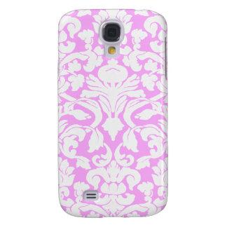 Vintage Divine Damask Pink Galaxy S4 Cases