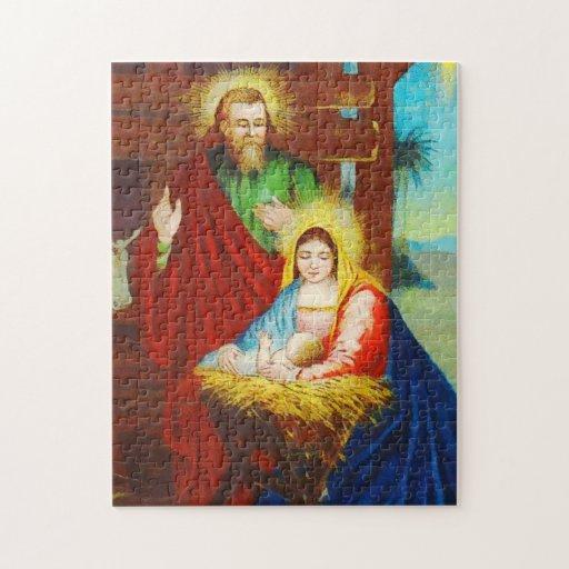 Vintage Divine Nativity Scene Jigsaw Puzzle