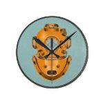 Vintage Diving Bell Round Wallclocks