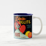 Vintage Dixie Delite Fruit Crate Label Two-Tone Coffee Mug