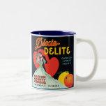 Vintage Dixie Delite Fruit Crate Label Two-Tone Coffee Mug