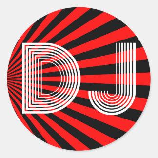 vintage DJ Classic Round Sticker