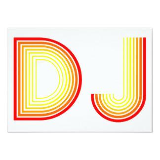 """vintage DJ Invitación 4.5"""" X 6.25"""""""