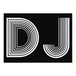 vintage DJ 4.5x6.25 Paper Invitation Card
