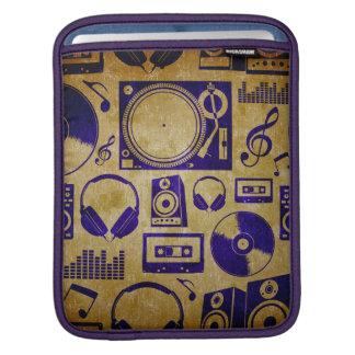 vintage DJ music iPad Sleeves