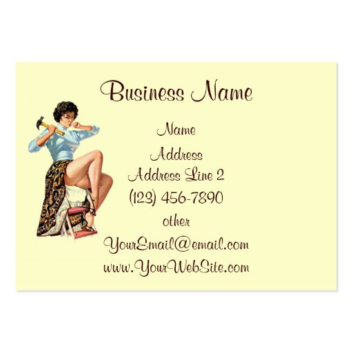 Vintage Do It Yourself Pin Up Business Card