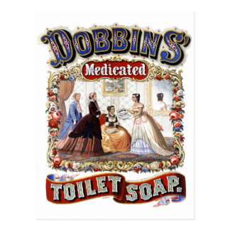 Vintage Dobbins' Medicated Toilet Soap Postcard