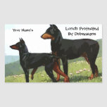 Vintage Doberman Lunch Protector Stickers