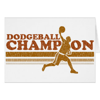 Vintage Dodgeball Champion Card