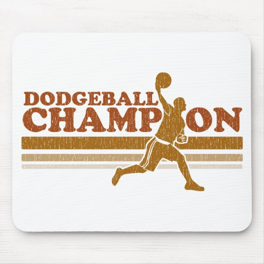 Vintage Dodgeball Champion Mouse Pad