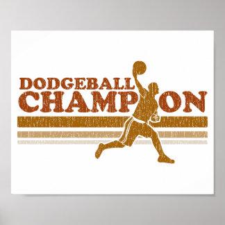 Vintage Dodgeball Champion Print