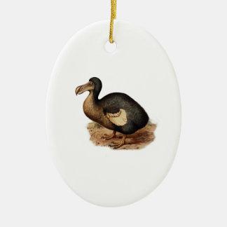 Vintage Dodo Bird Illustration Ceramic Ornament