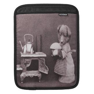 Vintage Dog Baking in the Kitchen iPad Sleeve