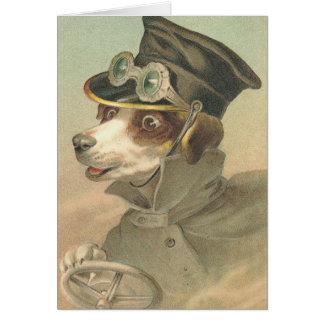 Vintage Dog Chauffer Card