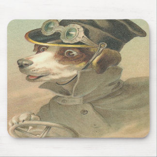 Vintage Dog Chauffer Mouse Pad