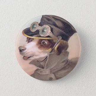 Vintage Dog Chauffeur Round Button