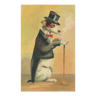 Vintage Dog-gone Elegant Poster
