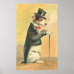 Vintage Dog-gone Elegant Posters