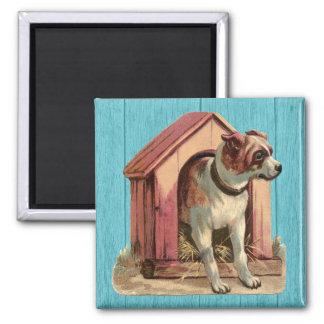 Vintage Dog House Illustration Magnet