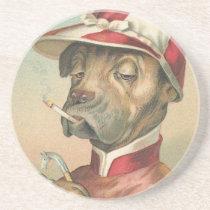 Vintage Dog Jockey Coaster